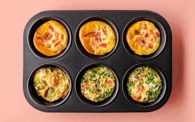 7 Petits Plats Individuels dans des Moules à Muffins | Idéal pour la Lunch Box !