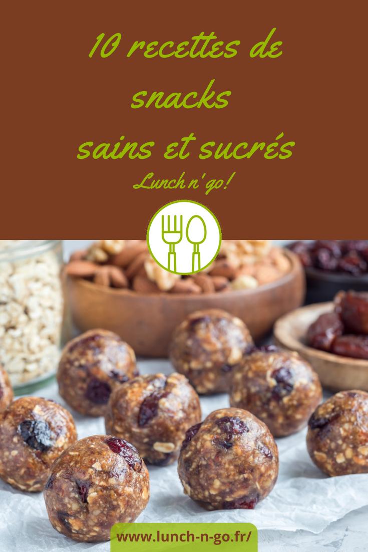 Des idées de snacks sucrés ? Faites-les vous-même en quelques minutes à partir d'ingrédients sains et diététiques, faciles à emporter et à conserver.